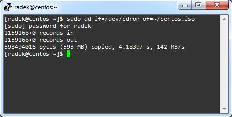 Zrzucanie zawartości dysku do pliku ISO pod Linuxem