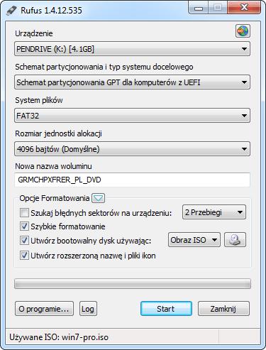 Kopiowanie installki Windows 7 na pendrive