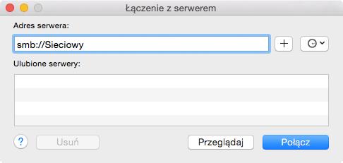 Dodawanie udziału sieciowego pod OS X