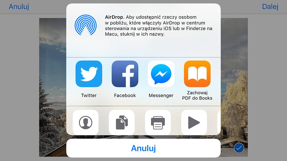 Na liście aplikacji trzeba wybrać Messengera